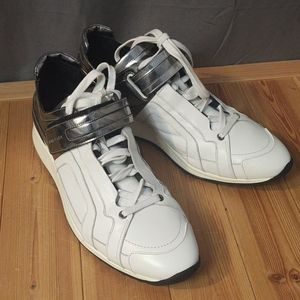 Pierre Hardy Metallic White Sneakers EU 45 US12